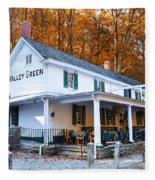 The Valley Green Inn In Autumn Fleece Blanket