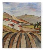 The Valley Of Jesrael Fleece Blanket