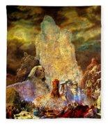 The Valley Of Sphinks Fleece Blanket