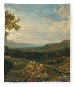 The Valley Of The Clyde Fleece Blanket