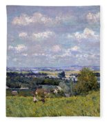 The Valley Of The Seine At Saint Cloud Fleece Blanket