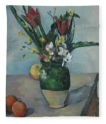 The Vase Of Tulips Fleece Blanket