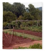The Vegetable Garden At Monticello II Fleece Blanket