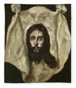 The Veil Of Saint Veronica Fleece Blanket