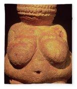 The Venus Of Willendorf Fleece Blanket