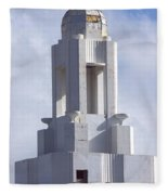 The Versailles Hotel Tower - Miami Beach Fleece Blanket