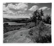 The View From Bald Mountain Fleece Blanket