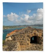 The View From Fort Rodney On Pigeon Island Gros Islet Caribbean Fleece Blanket