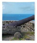 The View From Fort Rodney On Pigeon Island Gros Islet Saint Lucia Cannon Fleece Blanket