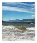 The View From Okanagan Beach Fleece Blanket