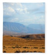 The View From Red Gulch Fleece Blanket
