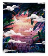 The View From Up Here Fleece Blanket
