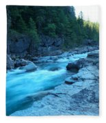 The View Of A River Fleece Blanket