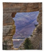The  View Through The Angels'  Window Fleece Blanket