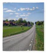 The Village Of Stjarna Fleece Blanket