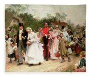 The Village Wedding Fleece Blanket