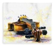 The Violin Fleece Blanket