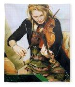The Violinist Fleece Blanket