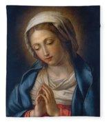 The Virgin At Prayer Fleece Blanket
