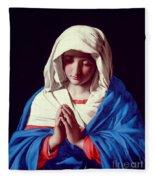 The Virgin In Prayer Fleece Blanket