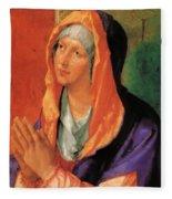 The Virgin Mary In Prayer Fleece Blanket