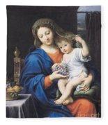 The Virgin Of The Grapes Fleece Blanket