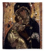 The Virgin Of Vladimir Fleece Blanket