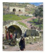 The Virgin Spring In Nazareth Fleece Blanket