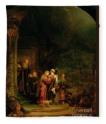 The Visitation Fleece Blanket