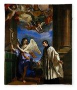 The Vocation Of Saint Aloysius Gonzaga Fleece Blanket