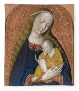 The Vrigin And Child Fleece Blanket