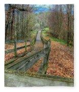 The Walk In The Woods Fleece Blanket