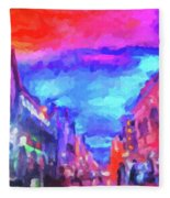 The Walkabouts - Sunset In Chinatown Fleece Blanket