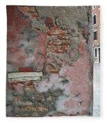 The Walls Of Venice Fleece Blanket