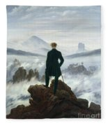 The Wanderer Above The Sea Of Fog Fleece Blanket