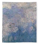 The Water Lilies, The Clouds Fleece Blanket