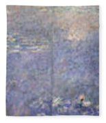 The Water Lilies, The Two Willows Fleece Blanket