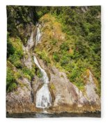 'the Water Of Life' Spring At Doubtful Sound Fleece Blanket