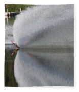 The  Water Skier Fleece Blanket
