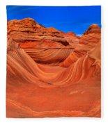 The Wave Panorama - X Fleece Blanket