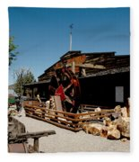 The Way It Was Virginia City Nv Fleece Blanket