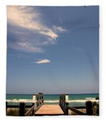 The Way Out To The Beach Fleece Blanket