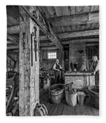 The Way We Were - The Blacksmith 2 Bw Fleece Blanket