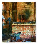 The Way We Were - The Blacksmith - Paint Fleece Blanket