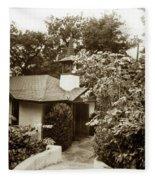 The Wedding Chapel Carmel  Highlands Inn Circa 1968 Fleece Blanket