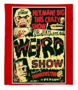 The Weird Show Poster Fleece Blanket