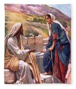 The Well Of Sychar Fleece Blanket