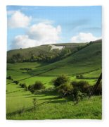 The White Horse Westbury England Fleece Blanket