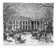 The White House, 1877 Fleece Blanket