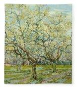 The White Orchard  Fleece Blanket